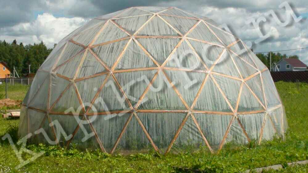 Строим геодезический купол для бассейна 3 м